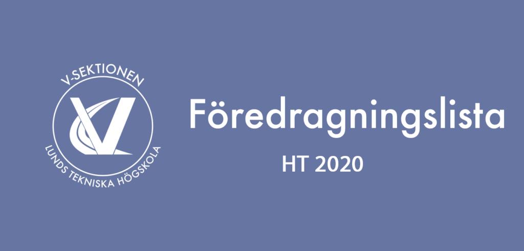 Föredragningslista HT 2020